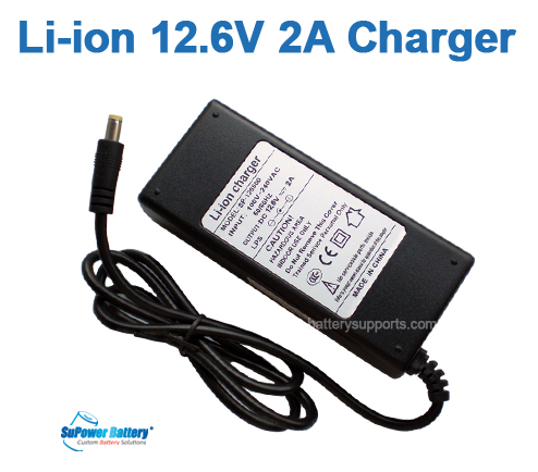Li-ion Li-Po 12.6V 10.8V 2A 3S Wall Socket Battery Charger AC DC