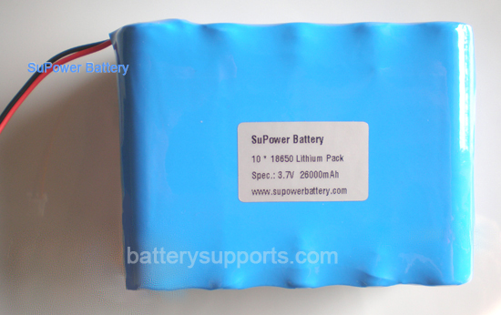 3.6V 3.7V 10* 18650 26000mAh 10P Lithium ion Li-ion Battery Pack