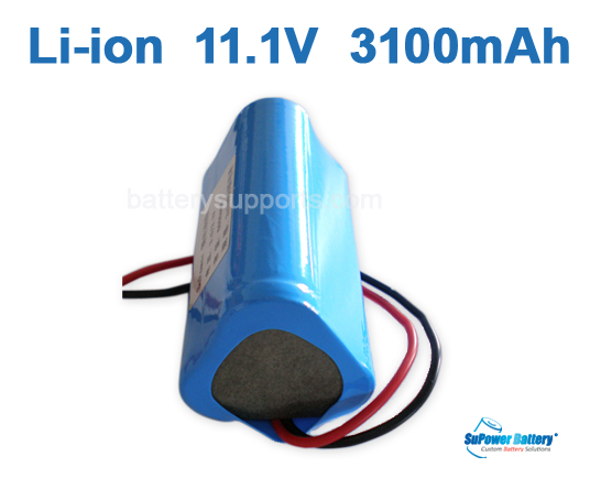 10.8V 11.1V 3* 18650 3100mAh 3S Lithium ion Li-ion Battery Pack