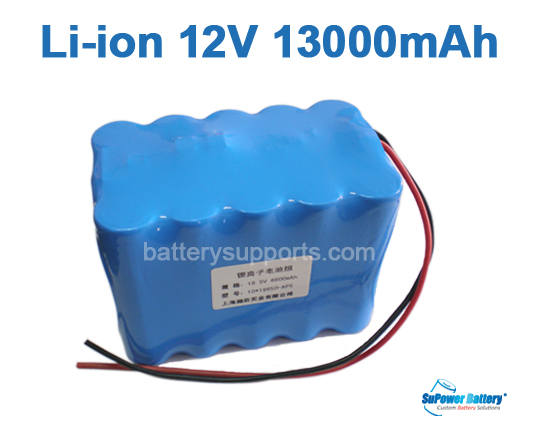 10.8V 11.1V 15*18650 13Ah 3S5P Lithium ion Li-ion Battery Pack