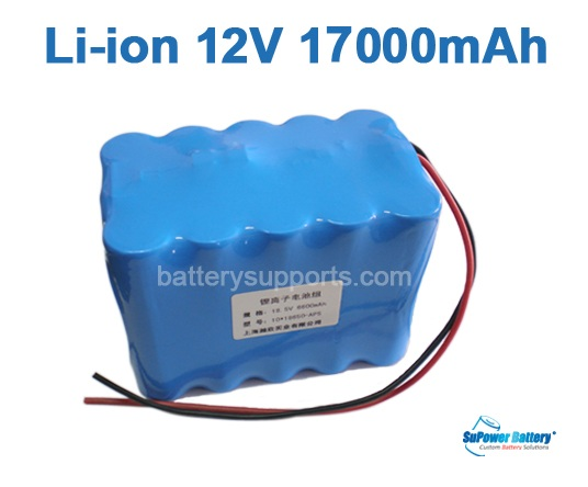 10.8V 11.1V 15*18650 17Ah 3S5P Lithium ion Li-ion Battery Pack