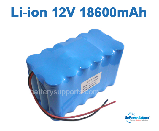 10.8V 11.1V 18*18650 18.6Ah 3S6P Lithium ion Li-ion Battery Pack