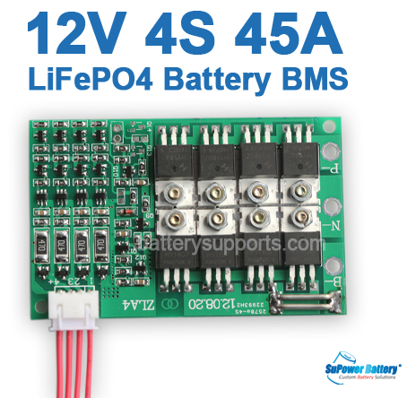 12V 14.6V 4S 45A LiFePo4 Battery BMS LFP PCM SMT System