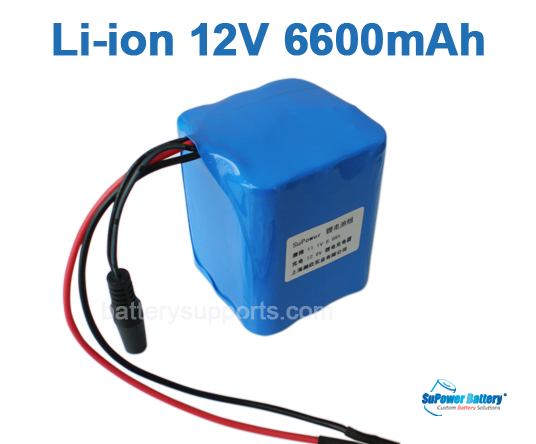 10.8V 11.1V 12V 9*18650 6600mAh 3S3P Lithium ion LiMnO2 Battery
