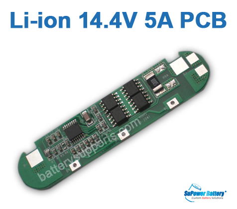 4S 14.4V 14.8V 16.8V 5A Li-ion Battery PCB PCM Circuit Board