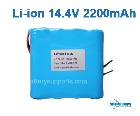 14.4V 14.8V 4* 18650 2200mAh 4S Lithium ion Li-ion Battery Pack