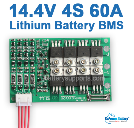 14.4V 14.8V 4S 60A 4x 3.6V Lithium ion LiPo Battery BMS PCM SMT