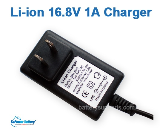 Li-ion Li-Po 16.8V 14.8V 1A 4S Wall Socket Battery Charger AC DC