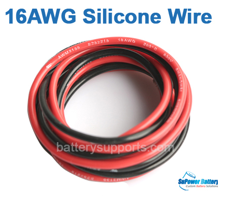 16AWG Flexible Silicone Wire 1m Red +1m Black Heatproof 200°C