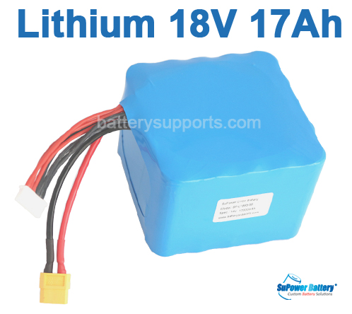 18V 21V Max. 50A 17000mAh 17Ah Li-ion Battery 5S5P Battery Pack