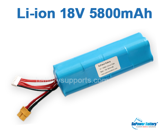 -20℃ Diving Light HID Lithium ion 18V 5.8Ah 10A Li-Ion Battery