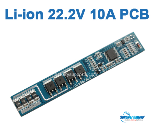 6S 10A Li-ion Lithium 21.6V 22.2V 25.2V 6 Cell Battery PCB PCM