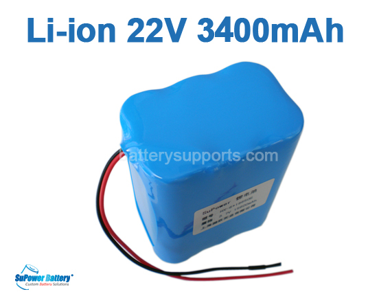 22.2V 25.2V 6*18650 3400mAh 6S Lithium ion Li-ion Battery Pack