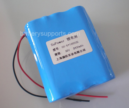 22.2V 25.2V 6*18650 3100mAh 6S Lithium ion Li-ion Battery Pack