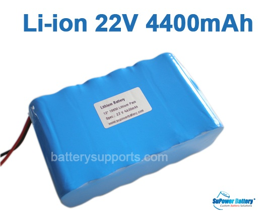 22V 25.2V 12*18650 4400mAh 6S2P Lithium ion Li-ion Battery Pack