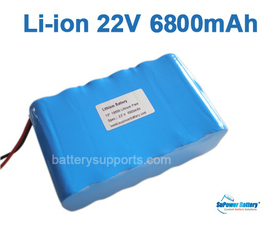 22V 25.2V 12*18650 6800mAh 6S2P Lithium ion Li-ion Battery Pack