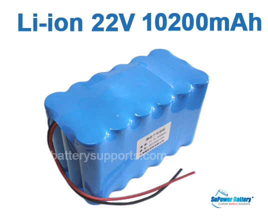 22V 25.2V 18*18650 10.2Ah 6S3P Lithium ion Li-ion Battery Pack