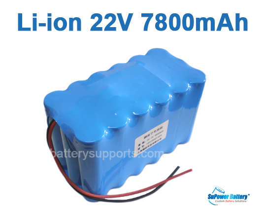 22V 25.2V 18*18650 7800mAh 6S3P Lithium ion Li-ion Battery Pack