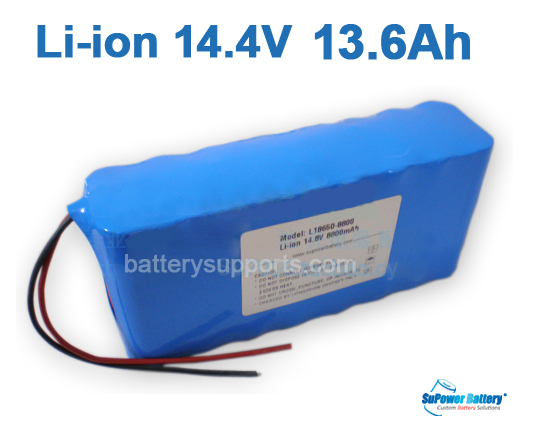 14.4V 14.8V 16*18650 13600mAh 4S4P Lithium ion Li-ion Battery