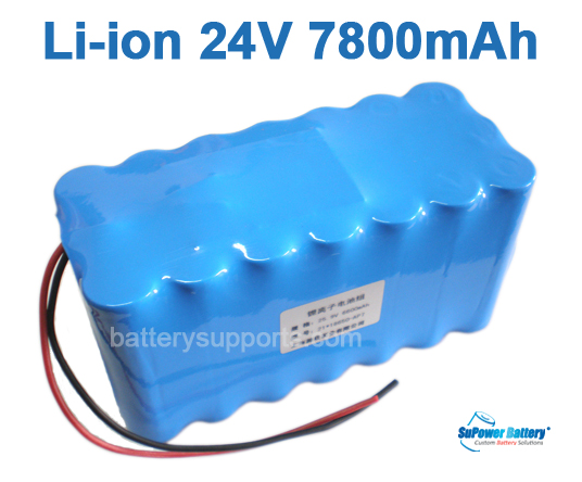 24V 29.4V 21*18650 7800mAh 7S3P Lithium ion Li-ion Battery Pack