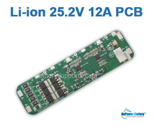 7S 25.2V 25.9V 29.4V 12A Li-ion Battery PCB PCM Circuit Board