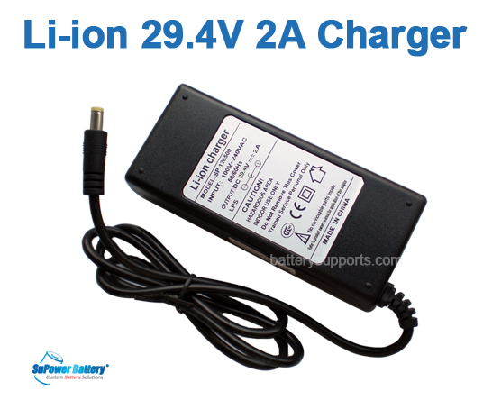 Li-ion Li-Po 25.9V 29.4V 2A 7S Wall Socket Battery Charger AC DC