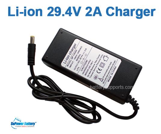 29.4V 2A Power DC Charger for 24V Lithium Li-on E-bike Battery Charger US Stock