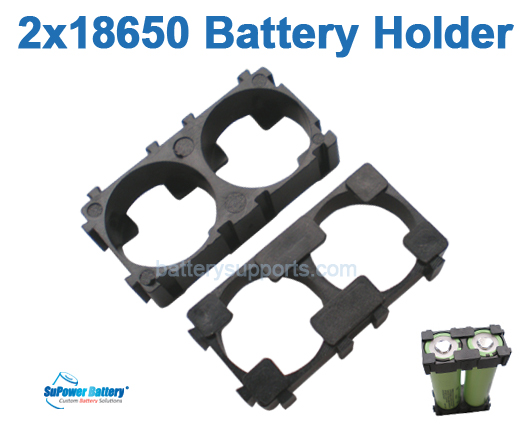 10pc Battery Spacer Seperator 2x 18650 Radiating Battery Holder
