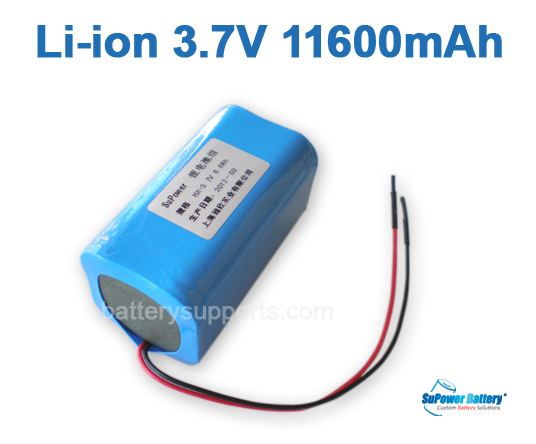 3.6V 3.7V 4* 18650 11600mAh 4P Lithium ion Li-ion Battery Pack