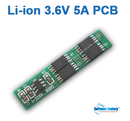 3.6V 3.7V 4.2V 5A Li-ion Battery PCB PCM Protected Chip Board
