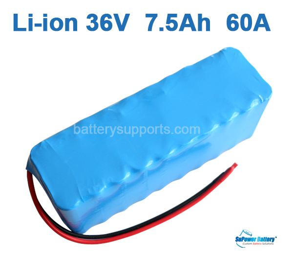 36V 37V 42V 7.5Ah 60A 7500mAh Lithium Li-ion Battery Pack