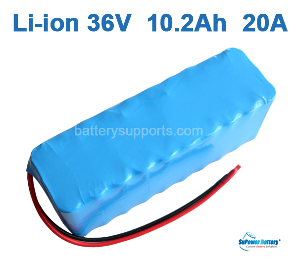 36V 37V 42V 10.2Ah 20A 10200mAh Lithium Li-ion Battery Pack