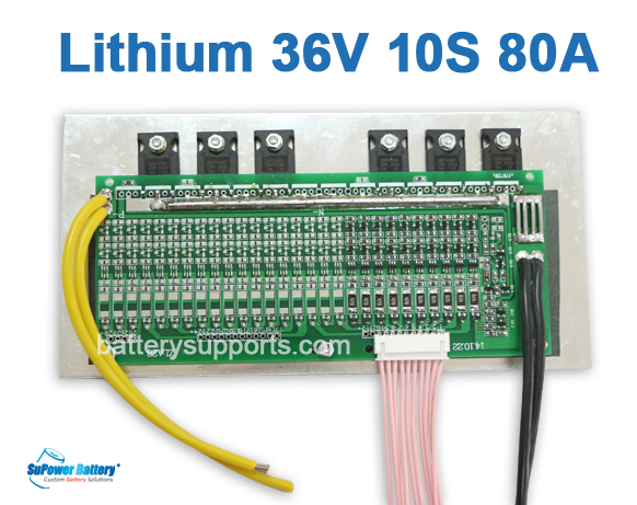 36V 37V 42V 10S 80A 10x 3.6V Lithium ion LiPolymer Battery BMS