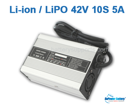36V 42V 5A Lithium ion Battery Charger 10S 10x 3.6V Lion LiPO