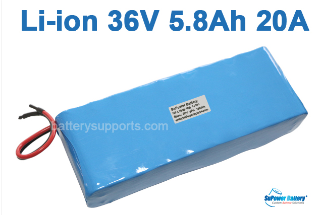 36V 37V 42V 5800mAh 5.8Ah 20A Lithium ion Li-ion Battery Pack