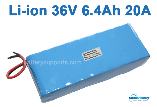 36V 37V 42V 6400mAh 6.4Ah 20A Lithium ion Li-ion Battery Pack