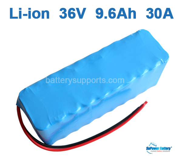 36V 37V 42V 9.6Ah 30A 9600mAh Lithium Li-ion Battery Pack