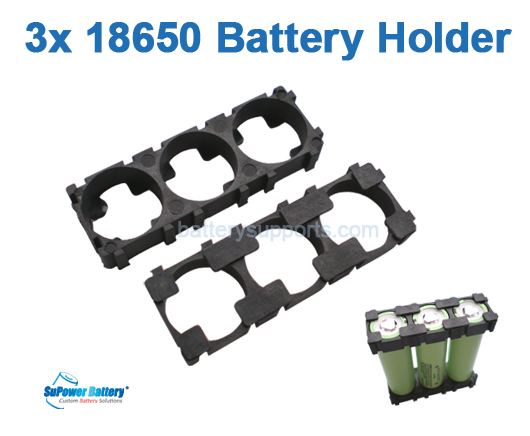 10pc Battery Spacer Seperator 3x 18650 Radiating Battery Holder