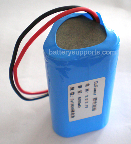 3.6V 3.7V 3* 18650 6600mAh 3P Lithium ion Li-ion Battery Pack