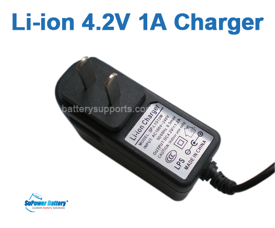 Li-ion Li-Po 3.6V 3.7V 4.2V 1A Wall Socket Battery Charger AC DC