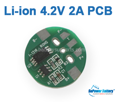 3.6V 3.7V 4.2V 2A Li-ion Lithium 18650 Battery PCB PCM Board