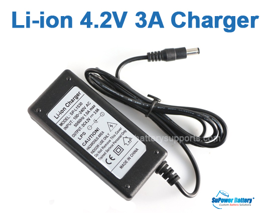 Li-ion Li-Po 3.6V 3.7V 4.2V 3A Wall Socket Battery Charger AC DC