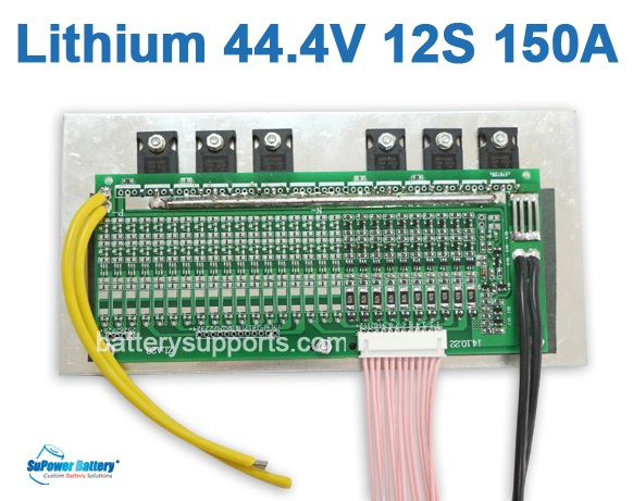 44V 48V 50.4V 12S 150A 12x3.6V Lithium ion LiPolymer Battery BMS