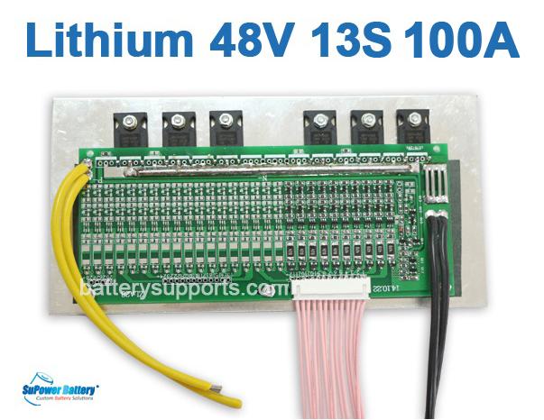 48V 54.6V 13S 100A 13x3.6V Lithium ion LiPolymer Battery