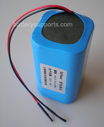 3.6V 3.7V 4* 18650 10400mAh 4P Lithium ion Li-ion Battery Pack
