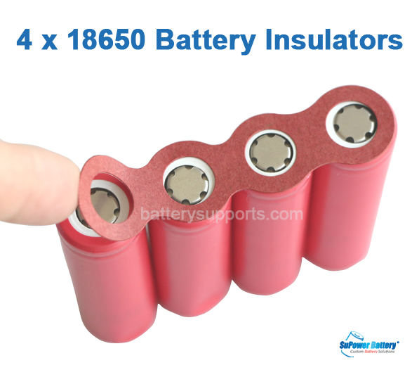 20pcs Adhesive Insulators for 4x 18650 4S 4P Battery Insulating