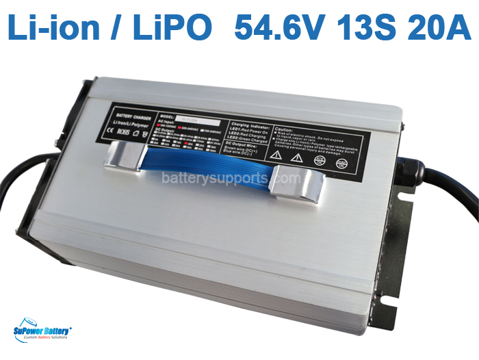 47V 48V 54.6V 20A Lithium ion LiPO Battery Charger 13S 13x 3.6V