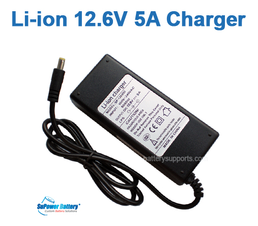 Li-ion Li-Po 12.6V 10.8V 5A 3S Wall Socket Battery Charger AC DC
