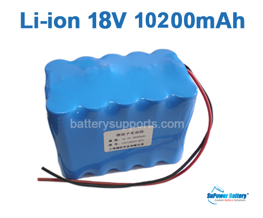 18V 21V 15*18650 10200mAh 5S3P Lithium ion Li-ion Battery Pack