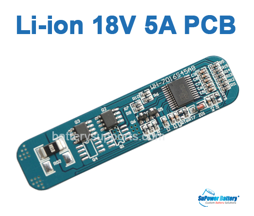 5S 18V 5A Li-ion Lithium 5 Cell Battery Protection Circuit PCB